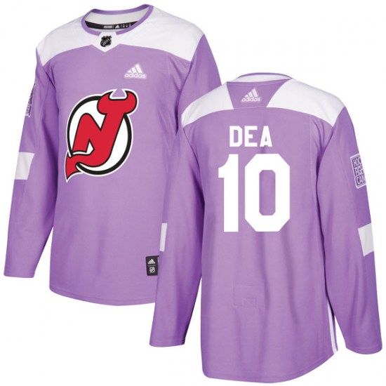 Jean-Sebastien Dea New Jersey Devils Authentic Fights Cancer Practice Adidas Jersey - Purple